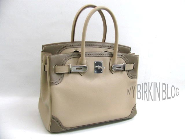 ea3a6f289df My Birkin Blog  For Sale  Birkin Ghillies Two-Tone 2012