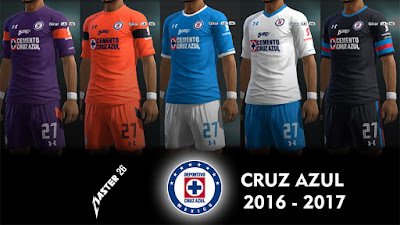 PES 2013 Cruz azul 16-17 Kits by Master26