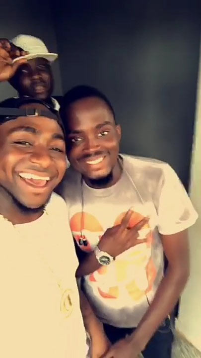 Photos: Davido chills with his crew on private jet