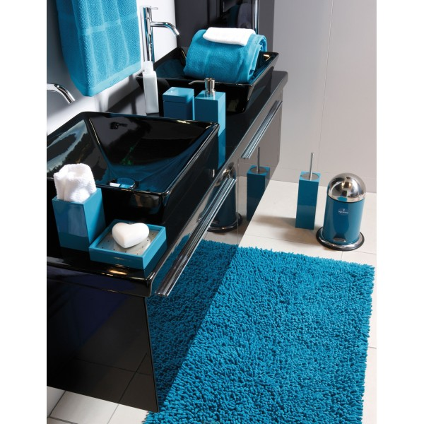 accessoires salle de bain bleu canard. Black Bedroom Furniture Sets. Home Design Ideas