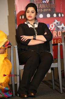 Tamil Actress Meena Latest Stills in Black Dress at TSR TV9 Awards Press Meet  0150.JPG