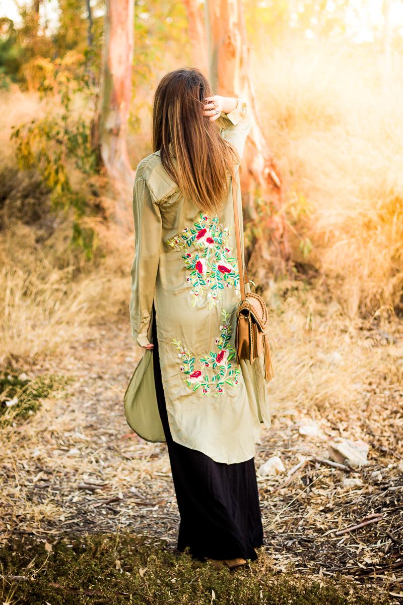 zara kimono flores