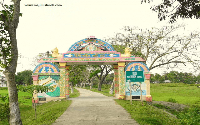 Entrance Gate Of Sri Sri Dakhinpat Satra