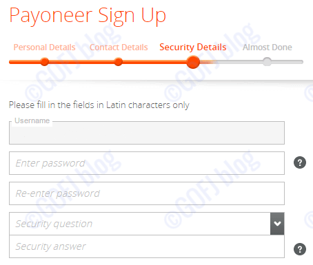 Payoneer India registration procedure