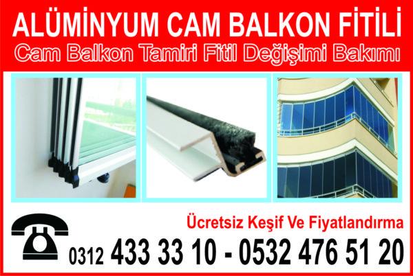 Alüminyum Cam Balkon Fitili