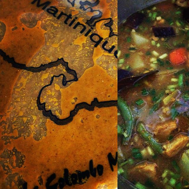 colombo, Martinique, curry, porc, cuisine antillaise