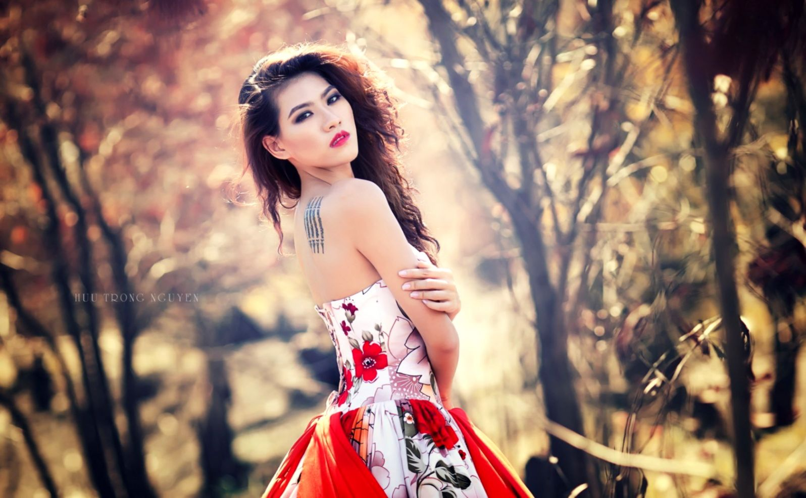 Beauty Model Asian Girl Bokeh Hd Wallpaper | Top Wallpapers