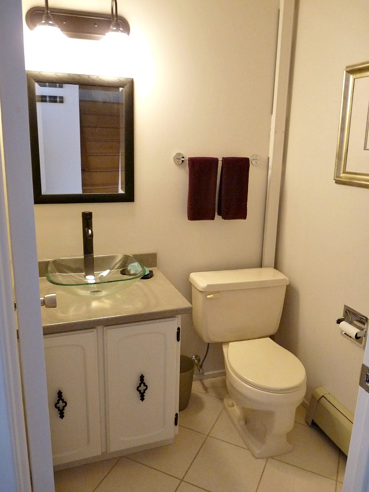 New Budget-Friendly Half Bath Makeover with Aqua Walls | Dans le Lakehouse WF42