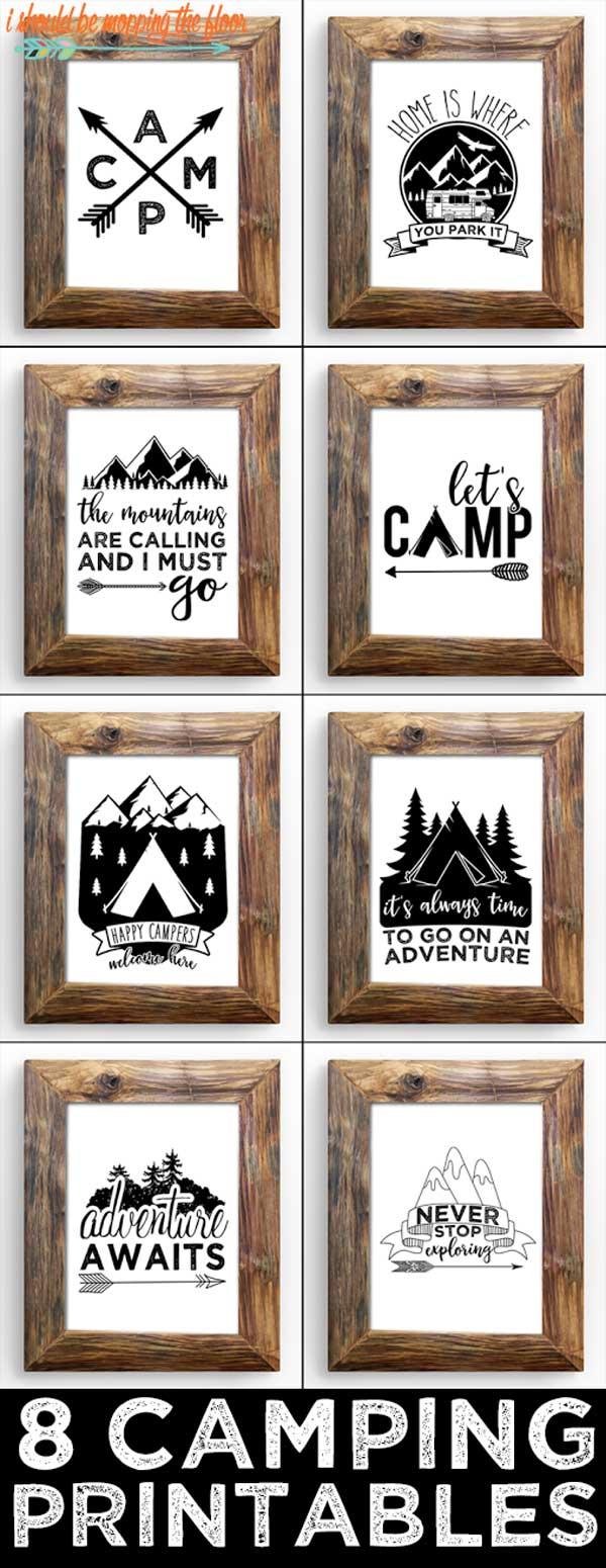 Camp Art Printables