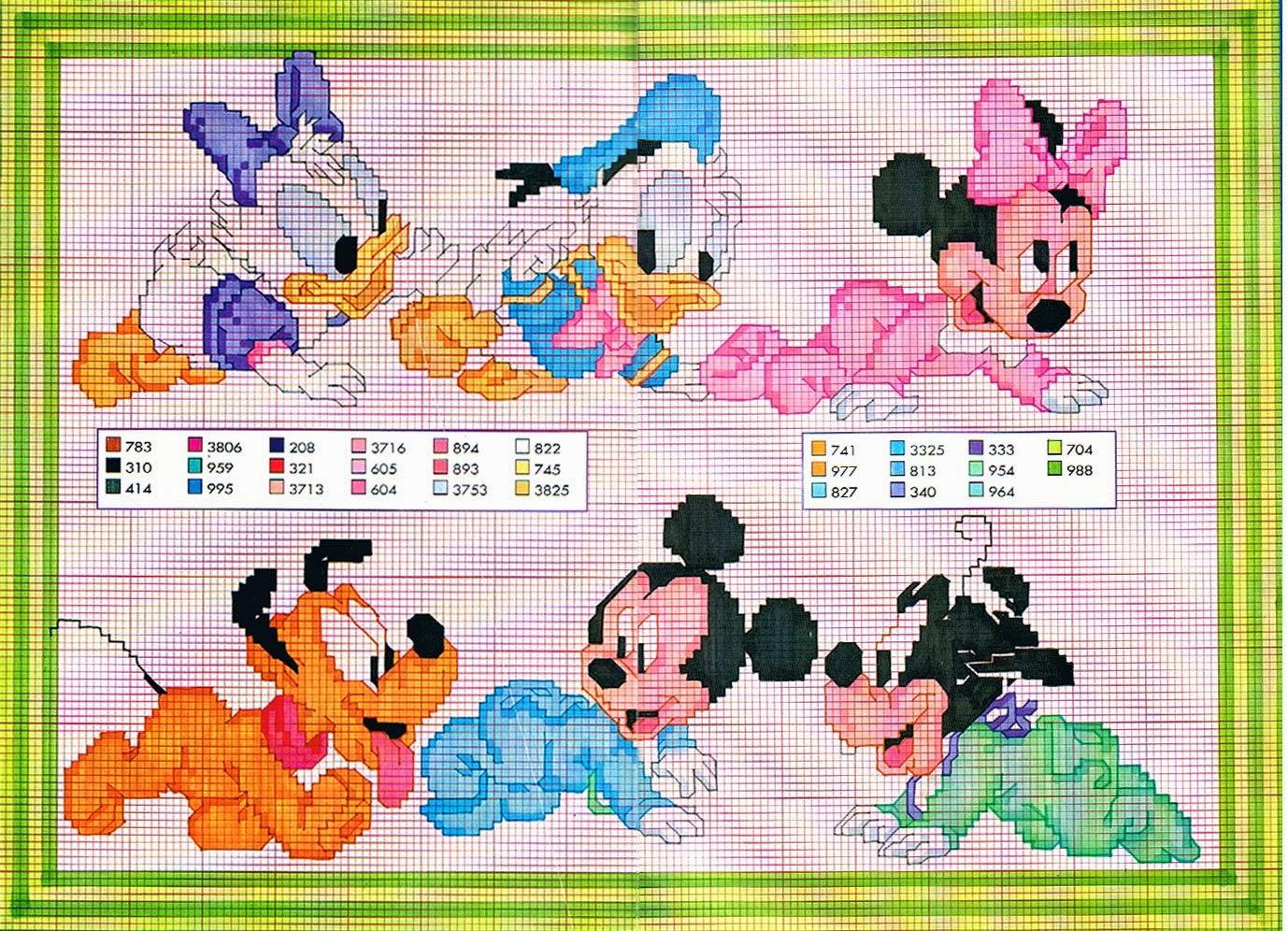 graficos punto de cruz gratis disney 90 parte 1 - Disney Bebe