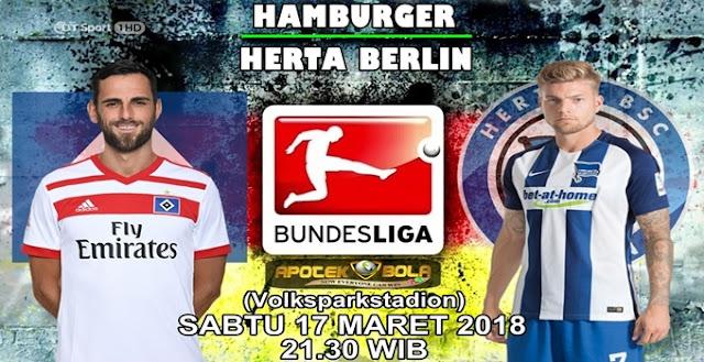 Prediksi Hamburger SV vs Hertha Berlin 17 Maret 2018