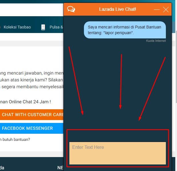 Customer Service Lazada Via Live Chatting Terbaru 2019 5