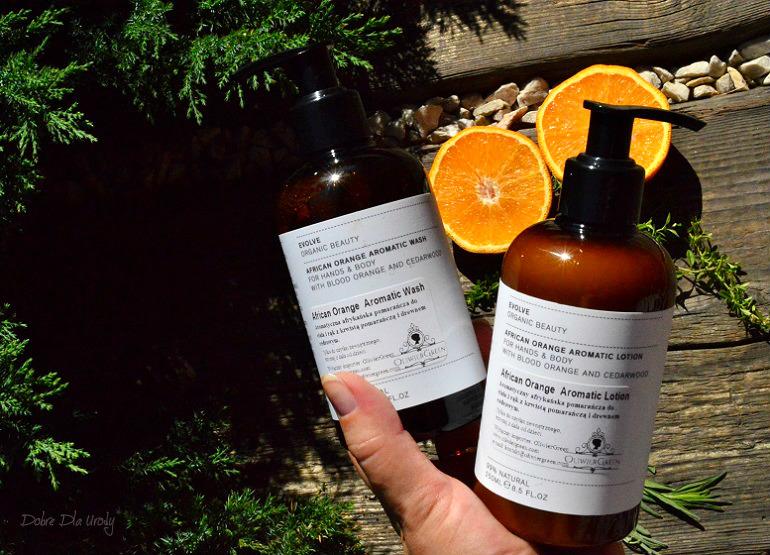 Naturalna pielęgnacja ciała z Evolve Organic Beauty - Luksusowy duet do dłoni i ciała z aromatyczną afrykańska pomarańczą i drewnem cedrowym