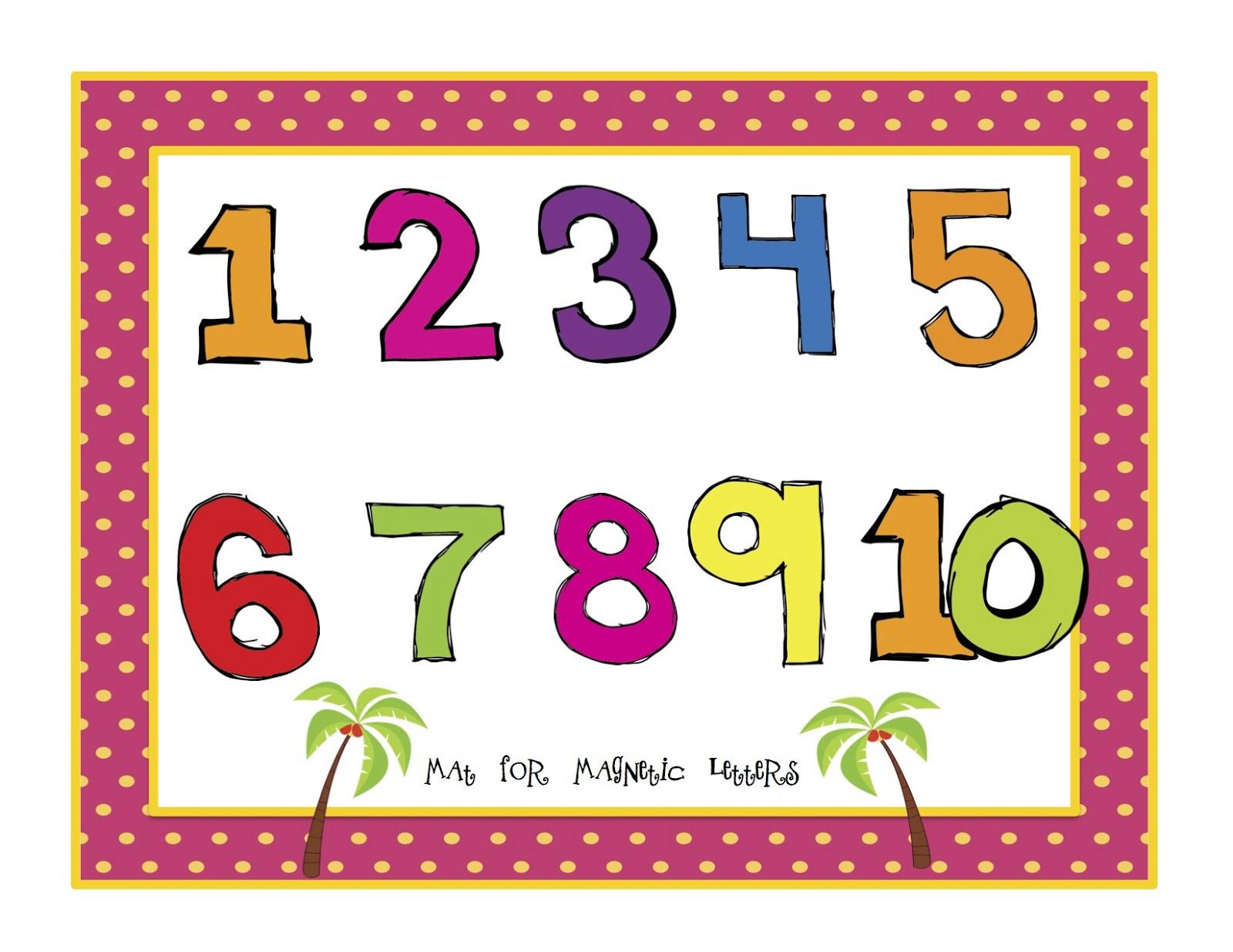 Chicka Boom Number Cards Preschool Printables