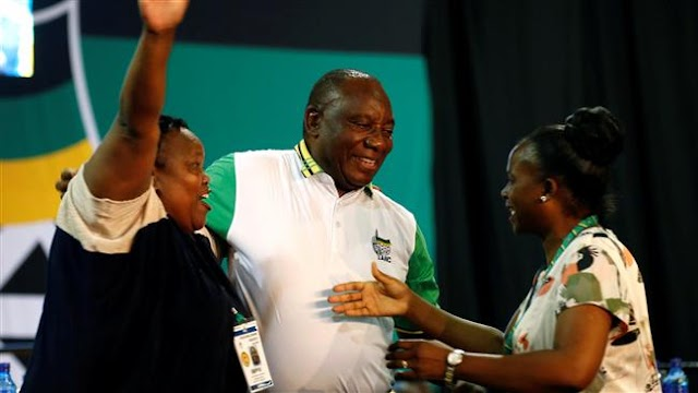 Cyril Ramaphosa wins election as South Africa's African National Congress leader