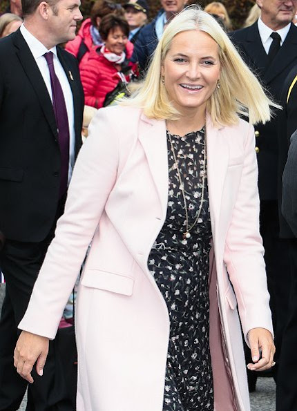 Crown Princess Mette-Marit wore Valentino dress from Spring 2013 Ready to Wear Collection and ByTiMo floral maxi dress