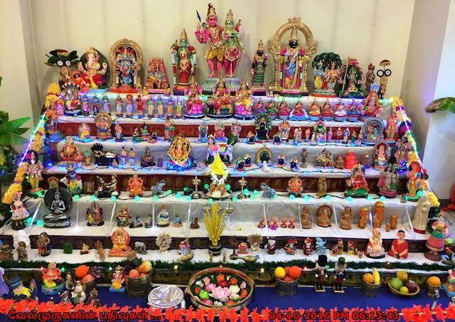 Navarathiri Kolu in Delaware Temple