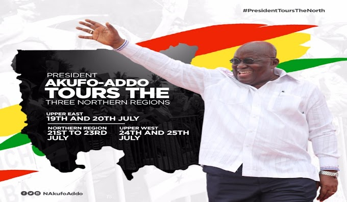 President Akufo-Addo To Embark On A 7-Day Tour Of Three Northern Regions