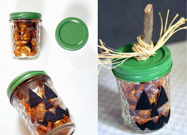 Jack-o-lantern treat jars