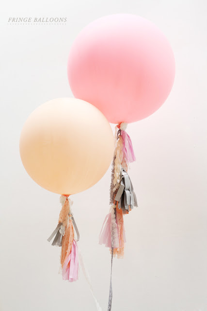 Fringe Balloons - 10 Easy Party Ideas - #diy #party #birthdayparty #babyshower #partydecor #diydecor