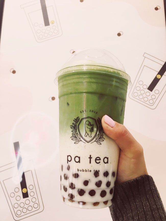 Most Instagram Worthy Desserts in NYC - bar Pa tea matcha bubble tea float