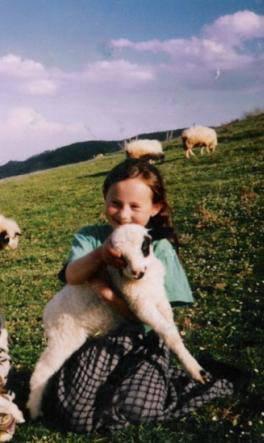 çocuk, kuzu, koyun, dağ, doğa, kız çocuğu, mera