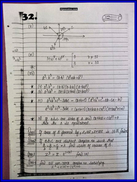 IITJEE Competition Notes On Complex Number 32