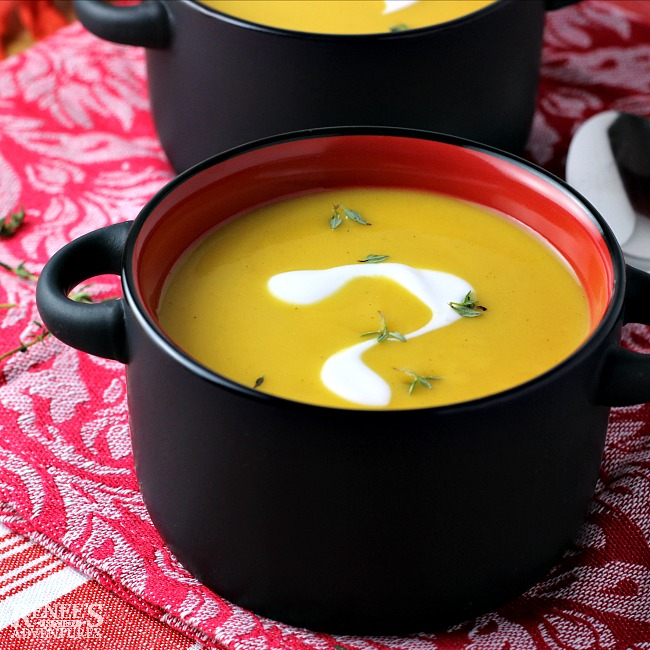 Easy Pumpkin Apple Ginger Soup