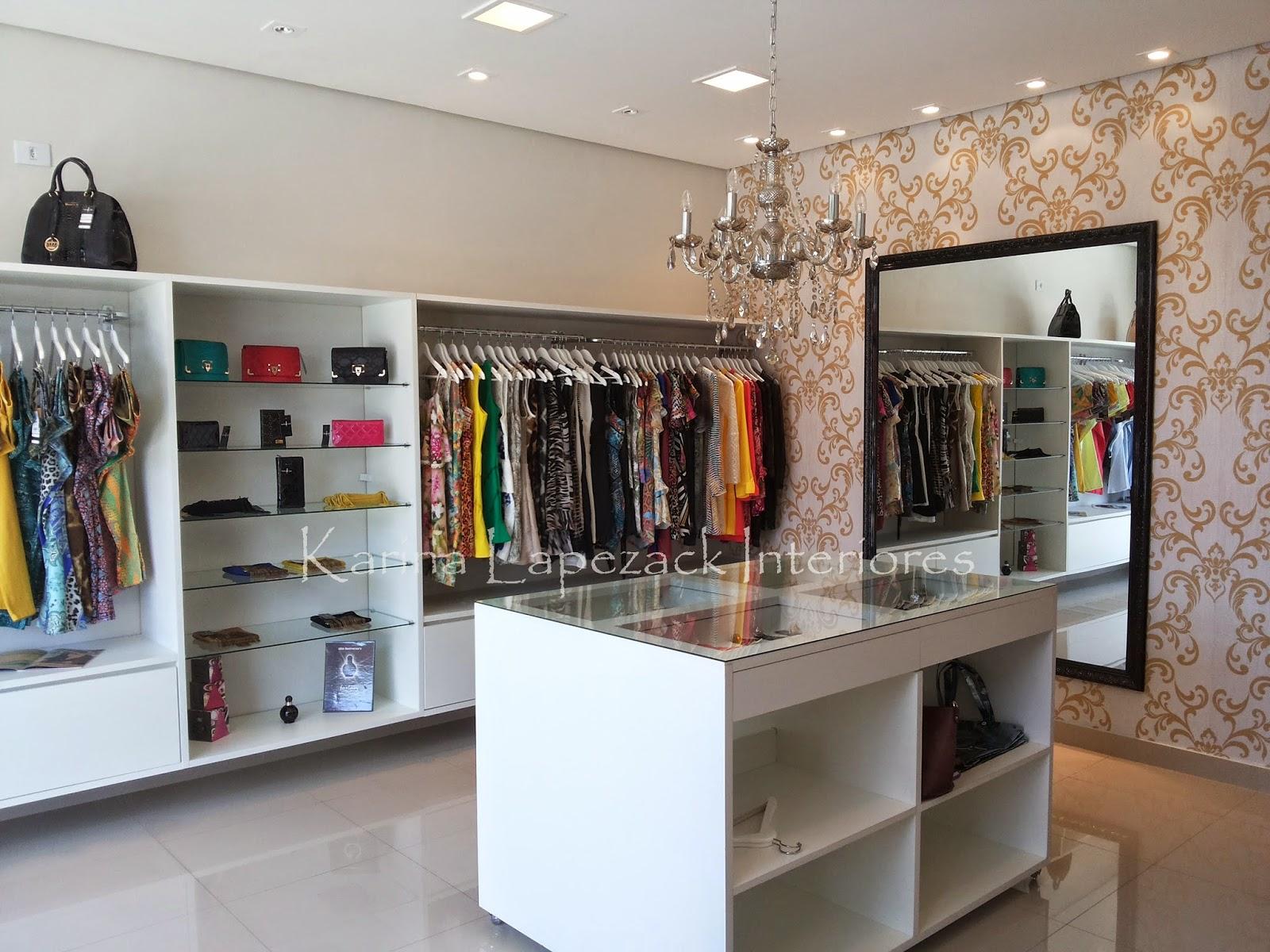 Projeto boutique de roupas femininas for Muebles para boutique infantil