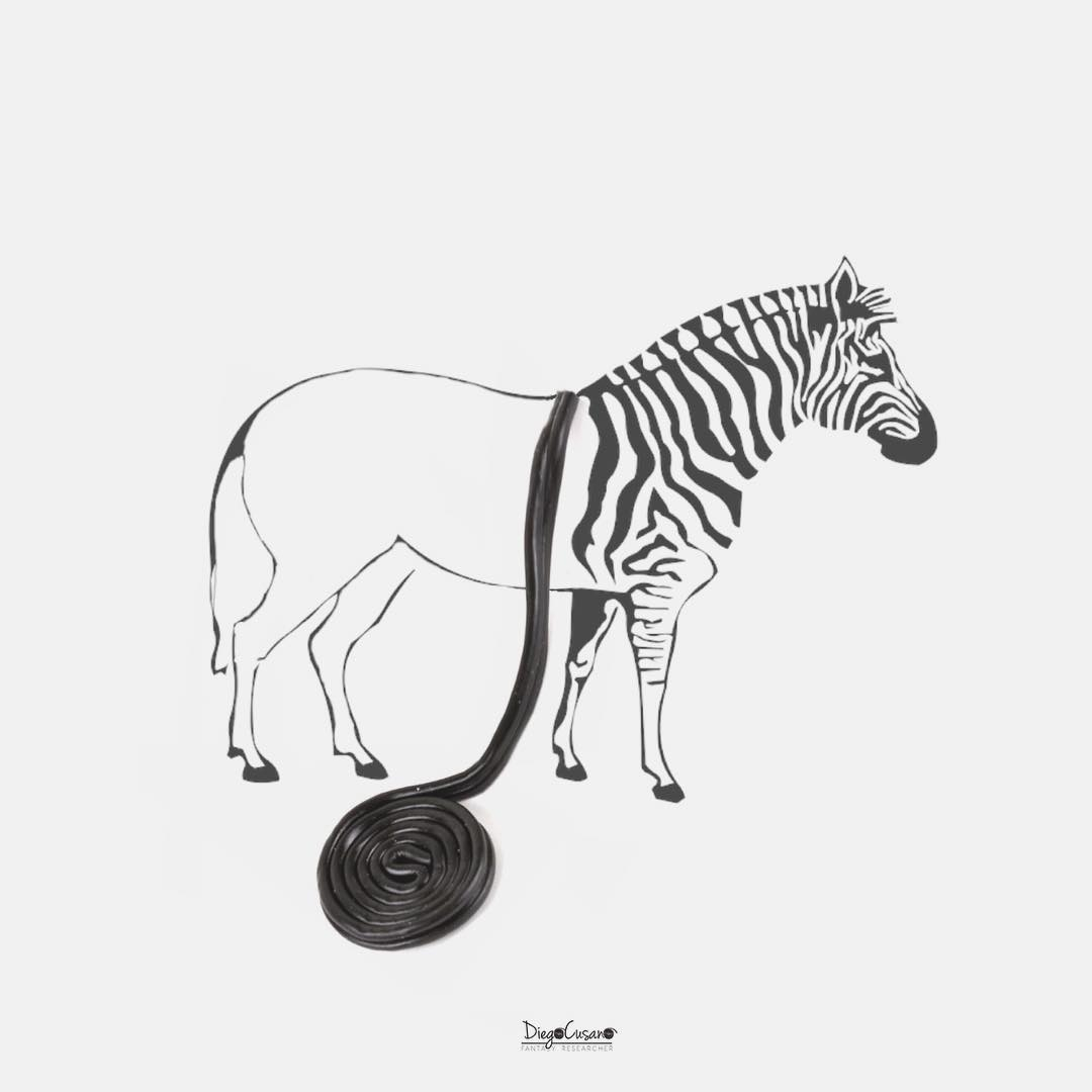 13-Licorice-Striped-Zebra-Diego-Cusano-Combining-Drawings-with-the-Real-World-www-designstack-co