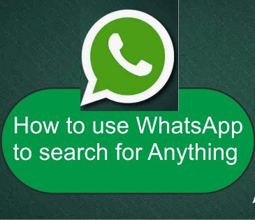 How To Use Activate WhatsApp As A Search Engine