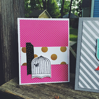 A little bird cage from the Badges and Banners Set with Pop of Pink by Spread Joy Stamping