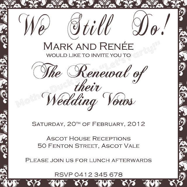 Wedding Vow Renewal Invitations: Invitation Renewing Wedding Vows Quotes. QuotesGram