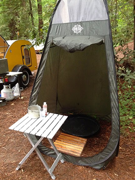 Our Teardrop Trailer Camp Shower Is Nothing Fancy We Have Had More Elaborate Setups In The Past Like Solar Showers Hung From Trees And Poles Made Of Rebar