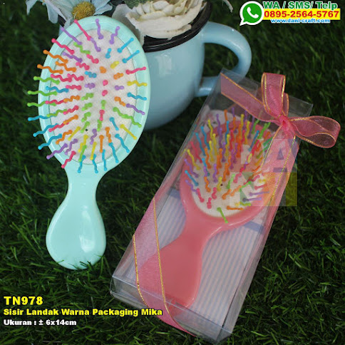 Sisir Landak Warna Packaging Mika