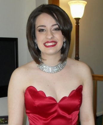 red dress and red lips