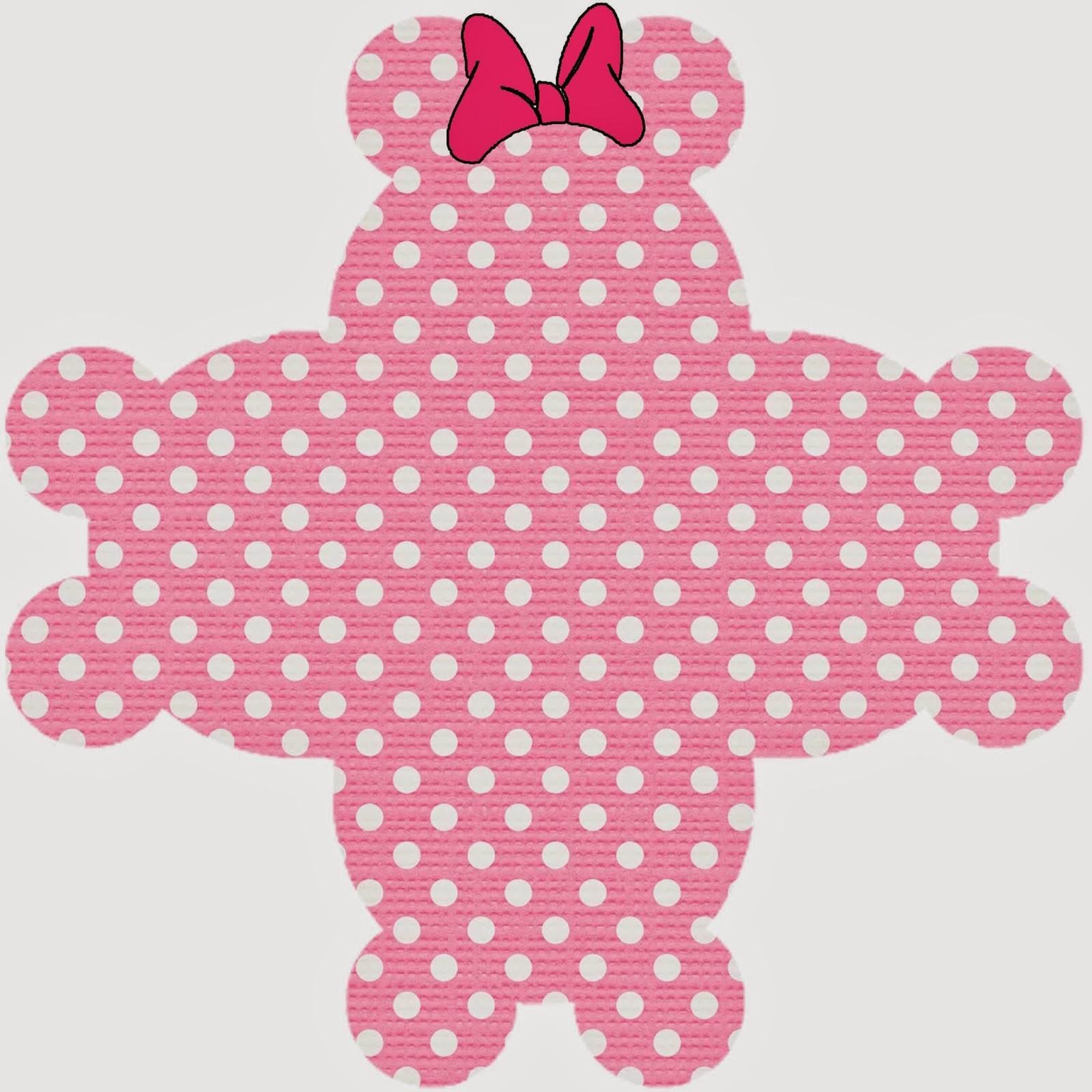Caja Abierta para Imprimir Gratis de Minnie Mouse Rosa.