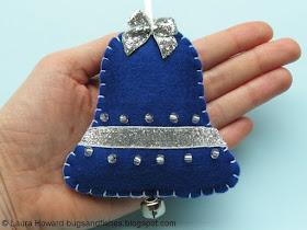 felt bell ornament