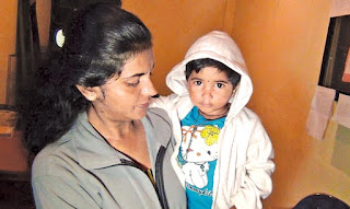 Two-year-old girl left in three-wheeler