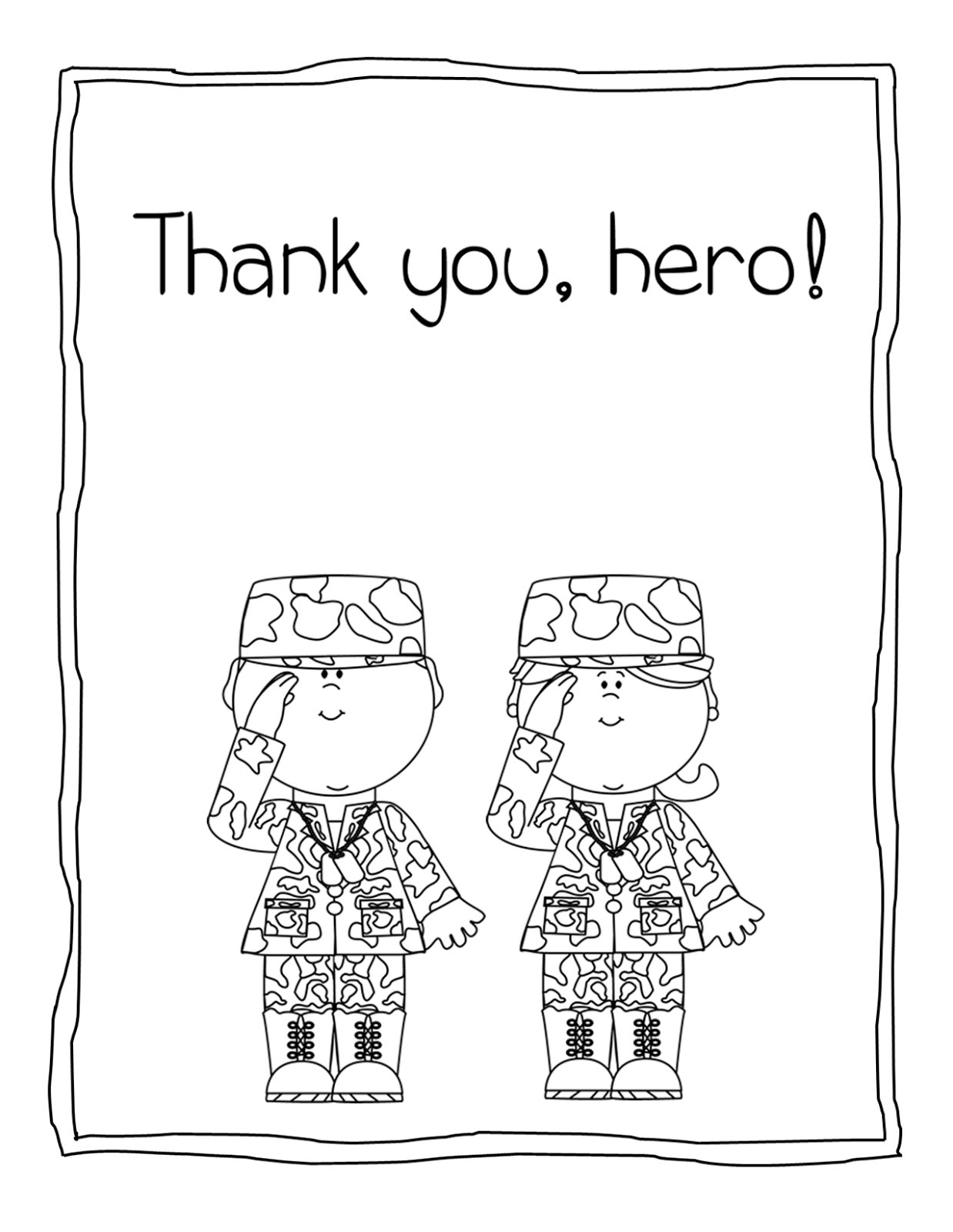 military thank you coloring pages - photo#6