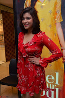 Mannara Chopra in deep neck Short red sleeveless dress Cute Beauty ~  Exclusive Celebrities Galleries 102.JPG