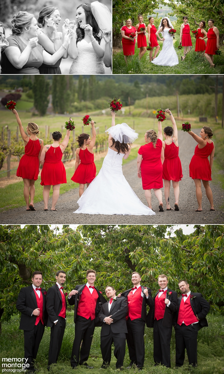 red and black wedding fontaine estates naches