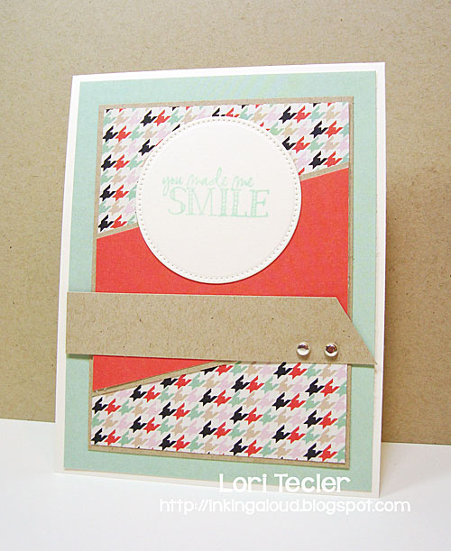 You Made Me Smile card-designed by Lori Tecler/Inking Aloud-stamps from Verve Stamps