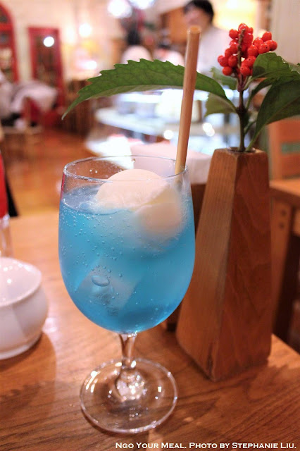 Blue Sky Ice Cream Soda at the Ghibli Museum Straw Hat Café in Tokyo, Japan