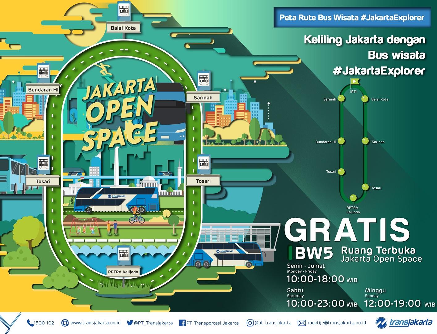 Jadwal Bus Wisata Transjakarta DKI Jakarta Gratis Terbaru