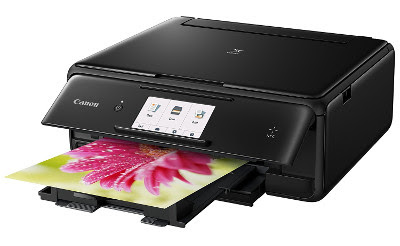 printer attain stunning snap shots consummate amongst bright colours as well as lovely particular Canon Pixma TS8050 Driver Download
