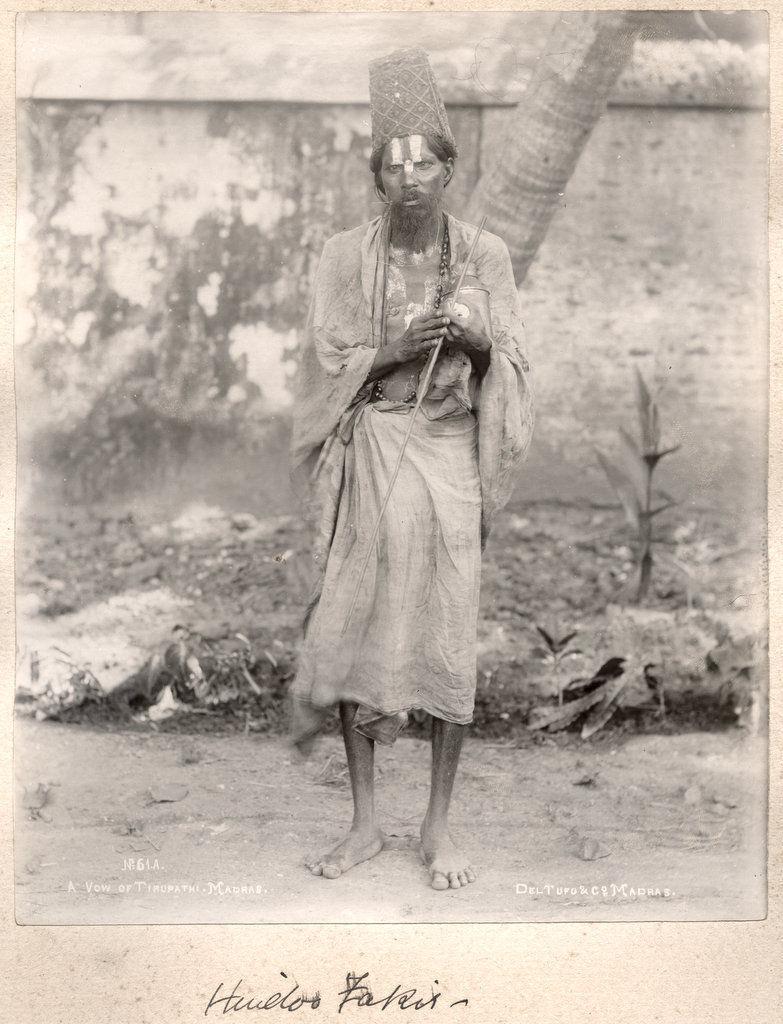 Hindu Sanyasi (Ascetic) - c1890's