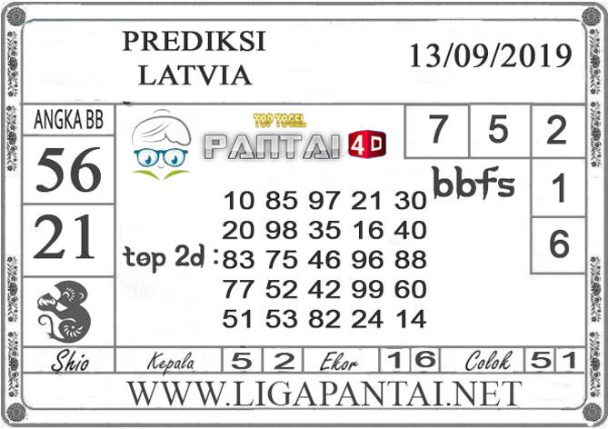 "PREDIKSI TOGEL ""LATVIA"" PANTAI4D 13 SEPTEMBER 2019"