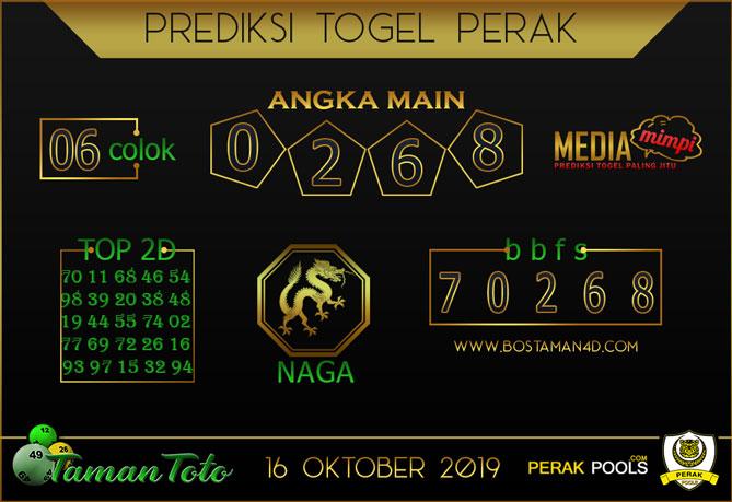 Prediksi Togel PERAK TAMAN TOTO 16 OKTOBER 2019