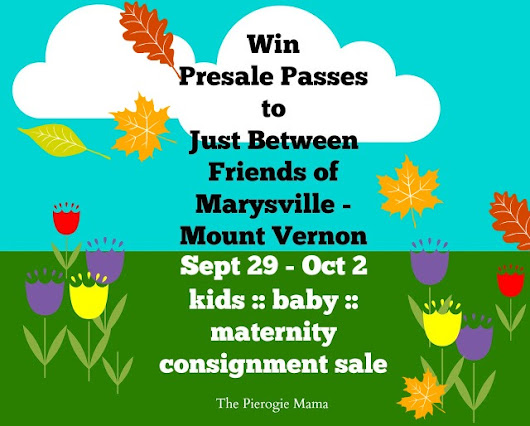 Just Between Friends Marysville - Mount Vernon Fall Sale! {Giveaway}
